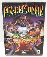 "Vintage Power Monger IBM 5.25"" Floppy MS DOS PC Computer Game Big Box RARE"