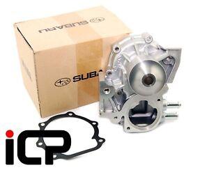 Genuine Cast Impeller 2 Pipe Water Pump Fits: Subaru Impreza WRX STi Spec C RA