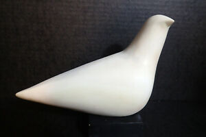 1960's Modernist Abstract White Dove Sculpture By Cleo Hartwig