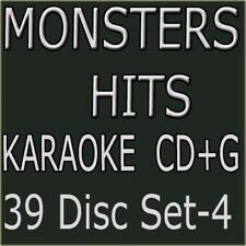 Monsters Hits Collection set #4 with 39 Disc Karaoke CD+G New from 1121 to 1159