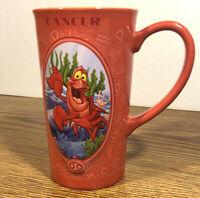 Disney Store Zodiac Horoscope Cancer Red The Little Mermaid Sebastian Cup Mug