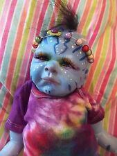 REBORN NEWBORN BABY MYTHICAL ALIEN ARTIST DOLL OOAK RAINBOW DEITY AVATAR