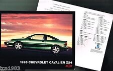 1995 Chevy CAVALIER Z24 factory issued Data Sheet Brochure, Z-24