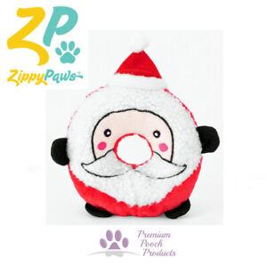 Zippy Paws Donutz Xmas Squeaky Plush Dog Toy Toss & Fetch - Santa Claus