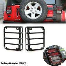 Tail Light Guard Metal Rear Light Protector Cover For Jeep Wrangler Jk 08 17 Fits Jeep