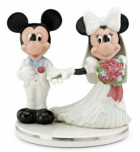 Disney-Lenox- Mickey & Minnie Wedding Cake Topper/Figurine-New in Box