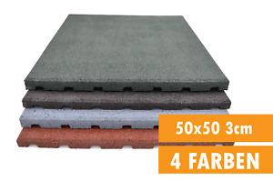 Fallschutzmatten Gummimatten Spielplatzmatten Fallschutzplatte 50 x 50 x 3 cm