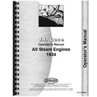 New Fits Case Steam Tractor Operators Manual