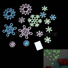 Glow In The Dark Snowflakes Luminous Wall Stickers Baby Ceiling Nursery Decor