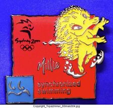 OLYMPIC PIN SYDNEY 2000 MASCOT MILLIE SPORT SY SWIMMING