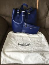 Beautiful Brand New Blue Leather Russell And Bromley Tote Handbag