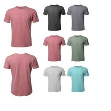 FashionOutfit Men's Basic Casual Cotton Based Marble Short Sleeves Crew Neck Tee