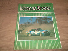 MOTOR SPORT MAGAZINE MAY 1980 ~ VERY GOOD CONDITION VINTAGE MAGAZINE