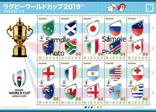 Japan Stamp - Rugby World Cup Japan 2019 - All Countries Flag -