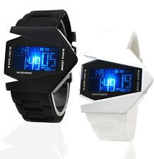 Hombre Silicona Deporte Reloj LED Digital Mujer Relojes De Pulsera Watch