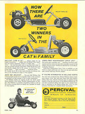 Vintage Beautiful Percival Hellcat & Wildcat Go-Kart Ad