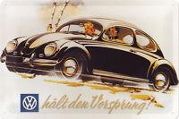 VW Volkswagen Vorsprung Blechschild Schild Blech Metall Tin Sign 20 x 30 cm