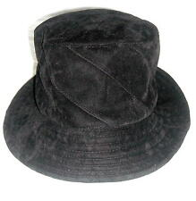 Lovely Soft Black Faux Velvet Hat One Size Ships Free in the USA