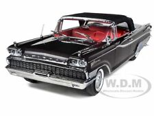 1959 MERCURY PARKLANE CONVERTIBLE BLACK 1/18 DIECAST CAR MODEL SUNSTAR 5166