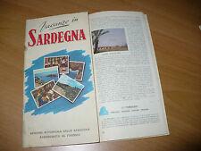 PICCOLA GUIDA TURISTICA VACANZE IN SARDEGNA 1950 5 LINGUE TESTI DI MASALA SERRA