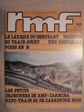 RMF n° 226/ juin 1982 Le lexique du débutant.Carmina et la Maison du Modélisme
