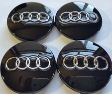 Audi Wheel Center Cap Black Chrome Logo 60 MM, Fit A3, A4, A6, A8, TT, Q7, S4