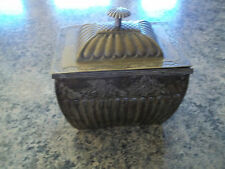 silver and gold large storage trinket box with lid ornate Design - Made In India