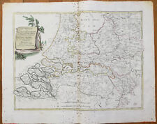Zatta Large Original Map Netherlands Belgium - 1779