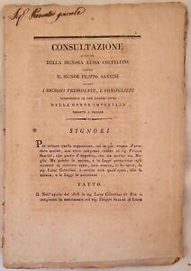 SENTENZA CONSULTAZIONE SEPARAZIONE LUISA COLTELLINI FILIPPO SANTINI LUCCA 1813