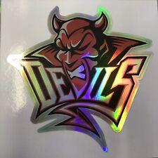 Cardiff Devils Rainbow Metallic Vinyl Sticker