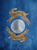 Original Mounted Watercolour Painting - It's A Marvellous Night For a Moon Dance