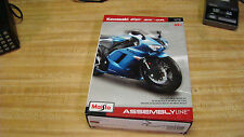 Blue 1:12 Scale Maisto Assembly Line Kawasaki Ninja Zx-6R Diecast Sealed