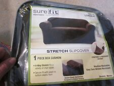 Sure Fit Stretch Love Seat Slip Cover New SEE DESCRIPTION Blackish/Charcoal