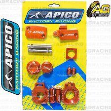 Apico Bling Pack Naranja bloques Tapas Tapones NUTS abrazadera cubre Para Ktm Exc 400 2003