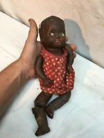 Antique Composition Black Americana Baby Doll African American parts for repair