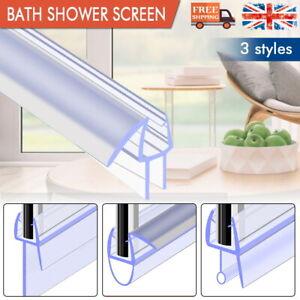 Bath Shower Screen Door Rubber Seal Strip Glass for Thickness 4 - 6mm Gap 7-23mm
