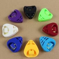 Colorful Plactic Guitar Pick Plectrum Holder Case Box Portable Heart Shape FS