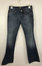 Seven For All Mankind size 24 Jeans A Pocket Boot Cut Medium Wash Flare Womens