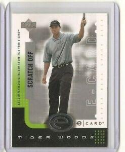 2001 Upper Deck TIGER WOODS E-Card Unscratched E-TW