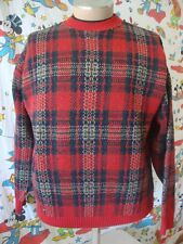 Pendleton Red Plaid Wool Pullover Sweater Men's XL
