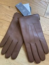 BNWT Marks Spencer Mens Tan Leather Gloves With Thermowarmth lining size M