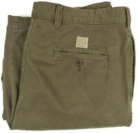 Vintage Abercrombie & Fitch Chino Pants 37x30 Mens Pleated Uncuffed Khakis Size