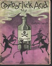 Carbarlick Acid Rag 1904 Large Format Sheet Music