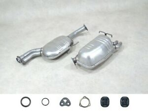 Auspuff Set NEU für Mercedes SL R129 280 300-24 320 Mitteltopf+Endtopf+Anbaut.