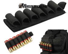 Tactical 6 Round Shotgun Shell 12 Gauge Ammo Carrier Magic Paste Holder Pouch BK