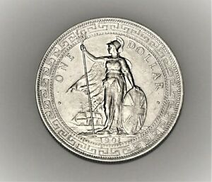 1901 Great Britain Silver Trade Dollar, Calcutta mint