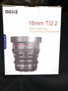 MEKE Meike 16mm T2.2 Manual Focus Cinema Prime MFT Mount Lens (MK-16T22-M43)