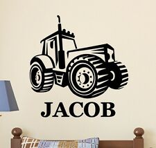 PERSONALIZED NAME FARM TRACTOR Kids Childrens Vinyl Wall Decal Sticker Boys Room