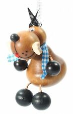 Hund braun Federtier Schwingfigur Hüpftier Mobile Federfiguren Jumper