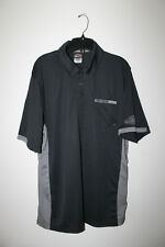 New Harley Davidson men's quick dry stitched logo pocket polo shirt black XXL